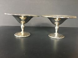 A Pair2 Towle 925 Sterling Silver Louis Xiv Compotes