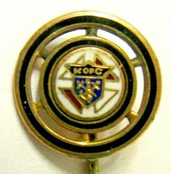 Early Vintage Knights Of Columbus Metal Enameled Stick Pin Stickpin