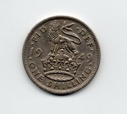 1949 Great Britain One Shilling Circulated Coin