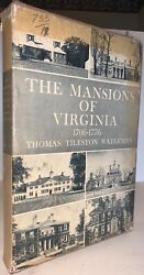 Signed 1946 First Ed The Mansions Of Virginia 1706-1776 By Thomas Waterman
