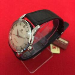 Auth Omega Watch Seamaster Automatic 34mm Case Original Belt Vintage 1960s F/s