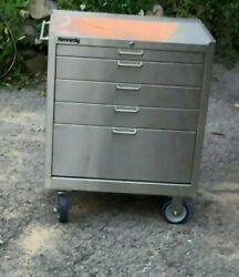 Kennedy Machinist 5 Drawer Clean Room Stainless Steel Tool Roller Cabinet