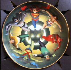 Alex Ross Rare Justice League Collectorand039s Plate Wbss 1997 Exclusive 1287/2500