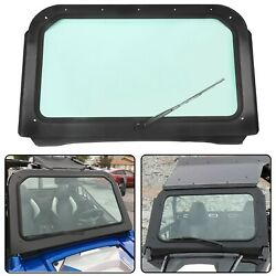 For 2008-2014 Polaris Rzr 570 800 Xp 900 Full Glass Windshield With Wiper Black