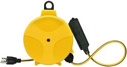 Retractable Extension Cord Reel Wheel Electric Power With Outlets Heavy Duty
