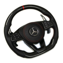 Mercedes AMG Custom Design Carbon fiber Napa Steering Wheel Sport With Air Bag $999.99