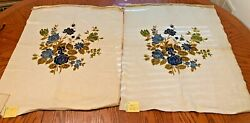 2Pcs Vintage Upholstery Fabric 32quot;x25quot; for Chairs Loveseats Belgium