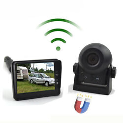 Wireless Magnetic Trailer Rear Hook-up/ Hitch Camera System And 3.5 Lcd Monitor