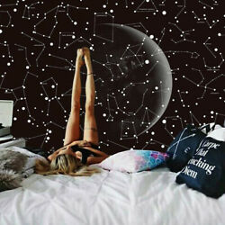 Universe Moon Stars Throw Wall Hanging Home Art Decor Blanket Bedspread Tapestry
