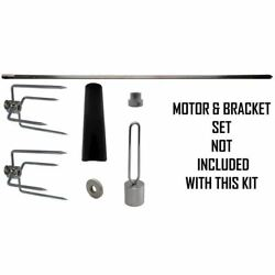 Onegrill 4ps1001 Universal Grill Rotisserie Kit No Motor And Bracket - 32 X 5/16
