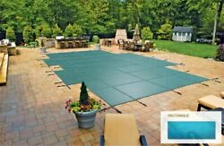 Inground Mesh Green Safety Cover For 30and039 X 60and039 Rectangular Pool