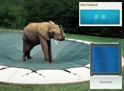 Ultra-loc Iii Solid Blue Cover For 20 X 44 Pool With Mesh Drain Panels