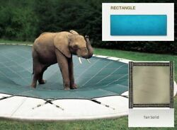 Solid Pvc Blue Cover For 16and039 X 40and039 Pool With Automatic Cover Pump