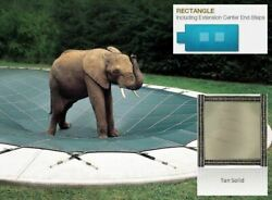 Looploc Solid Tan Cover For 16 X 32 Pool, Mesh Drain Panels, 4 X 6 Center End