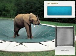 Solid Pvc Blue Cover For 16and039 X 32and039 Pool With Automatic Cover Pump