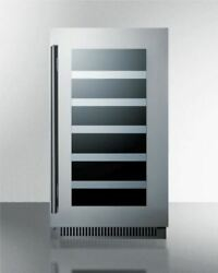 Summit Cl18wccss 18and039and039 Wide Built-in Wine Cellar