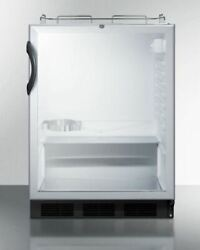 Summit Sbc56gbinkada 24and039and039 Wide Built-in Beer Dispenser - Glass Black