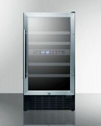 Summit Swc182zcssada 18and039and039 Wide Built-in Wine Cellar - Ada Compliant