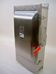 Siemens Stainless Hnf364s 200amp 600v Non-fused Safety Switch 2 Available New