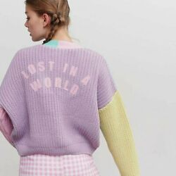 NWT Lazy Oaf Lost in a World Pastel Panel Cardigan size SM $300.00
