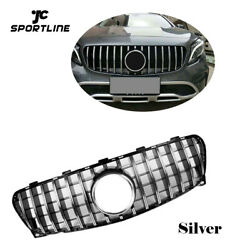Front Grill Grille Silver For Mercedes Benz X156 Gla200 Gla250 Gla45amg 17-18
