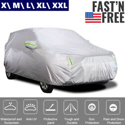 Suv Universal Car Cover Outdoor Waterproof Uv Rain All Weather Protection N8i9