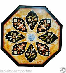 24x24 Marble Coffee Side Table Top Inlay Mosaic Marquetry Hallway Decorative