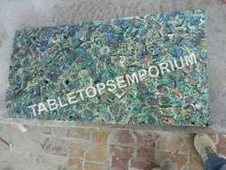 4and039x2and039 Marble Dining Top Table Pauashell Inlay Random Arts Furniture Decor E1147