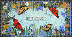3and039x5and039 Large Marble Black Dining Table Top Butterfly Inlay Floral Style Art Decor