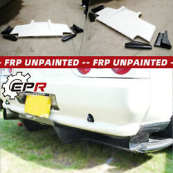 Frp Ts Style Rear Diffuser W/ Metal Fitting Accessories For Nissan R32 Gtr Gts