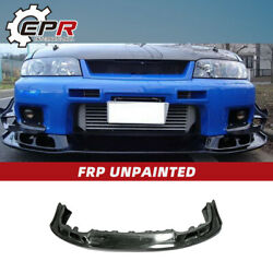 As Style Frp Fiber Front Bumper Lip Accessories Kits For Nissan R33 Skyline Gtr