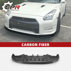 For 12-16 Nissan R35 Gtr Carbon Fiber Oe Front Bumper Lip With Under Tray Trim