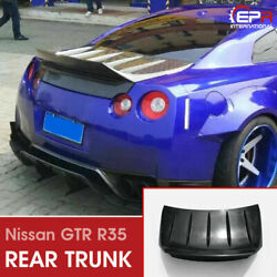 Tp Style Frp Unpainted Rear Trunk Lid Bootlid Body Kits For 12-16 Nissan Gtr R35