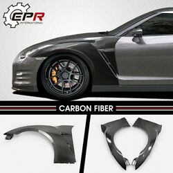 For Nissan Gtr R35 2017 My17 Oe Style Carbon Front Fender Without Air Vents Kits