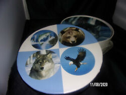 SET OF 4 WILD LIFE PLATES IN A GIFT BOX --Muckleshoot Indian Casino