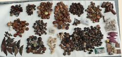 Lot Of 576 Assorted Wooden Handles, Drawer Pulls And Knobs Ca. 1880 To 1999