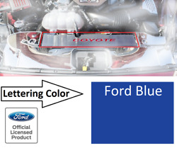 Radiator Cover Trim Plate Coyote Emblem Ford Blue Letters For 2015-17 Mustang Gt
