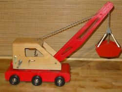 1960s Heds Wood Toy Clamshell Power Shovel Made In West Germany