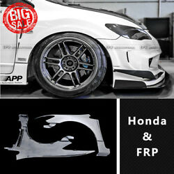 Feels Style Frp Unpainted Front Fender Mudguard Exterior Kit For Honda Civic Fd2