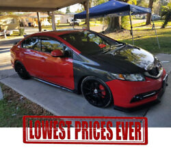 Js Style Frp Vented Wider Front Fender Kits For 12-14 Honda Civic Fb2 Fb4 Fb6