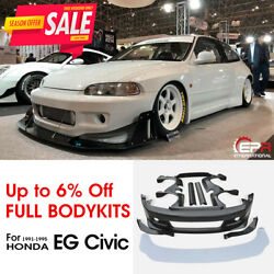 Rb Style Frp Full Widebody Sets All Bodykits - For Honda Civic Eg Hatch Back