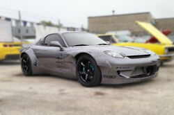 For Mazda Rx7 Fd3s Rb Style Frp Unpainted Front Fender Flares Body Kits 2pcs