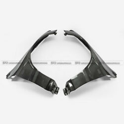 Vtx Cyber Style Carbon Front Wide Fender Track Version For Mitsubishi Evo 8 9