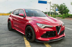 For Alfa Stelvio S Style Carbon Fiber Side Skirt With Extension Addon Diffuser