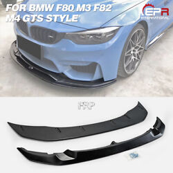 Gts Style Frp Front Bumper Lip Splitter Kits 2pcs For 2015+ Bmw F80 M3 And F82 M4