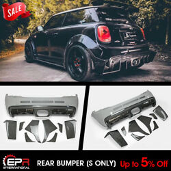 Carbon + Frp Tp Style Rear Bumper Kits Rear Lip S Only For F56 Mini Cooper S