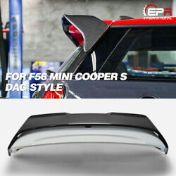 Dag Style Carbon + Frp Rear Trunk Roof Spoiler Wing Kits For Mini Cooper S F56