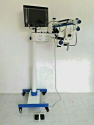 Dental Surgical Microscope Beam Splitter C Mount Camera And Motorized Foot System