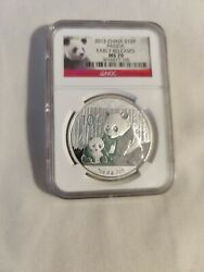 2012 China 1 Oz Silver Panda Ngc Ms 70 Early Release.