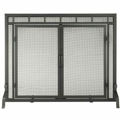 Copperfield Black Wrought Iron Minuteman Mission Style Screen W/doors